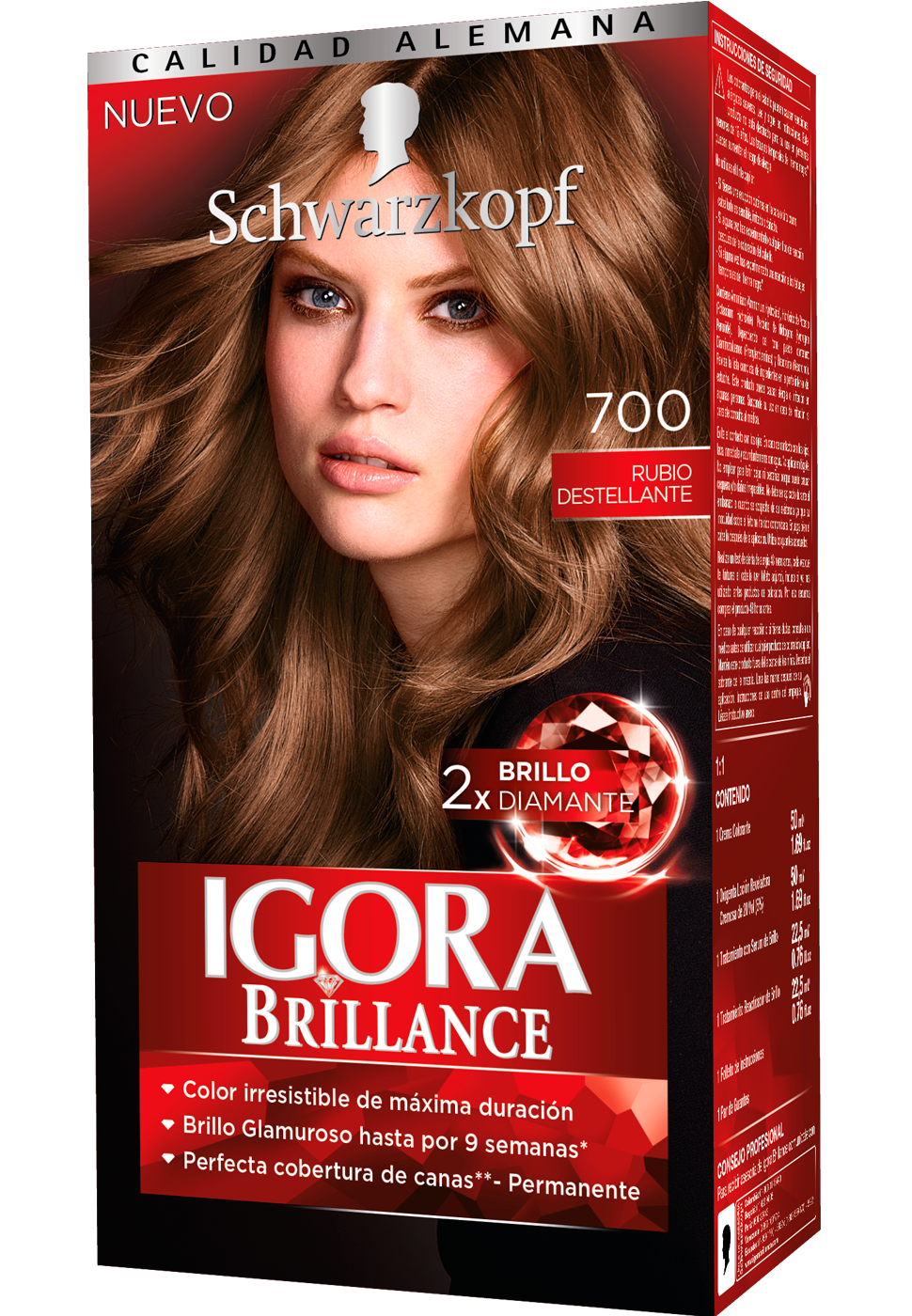 Igora brillance  700 rubio destellante